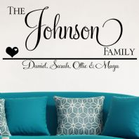 Personalised Family Names ~ Wall sticker / decals